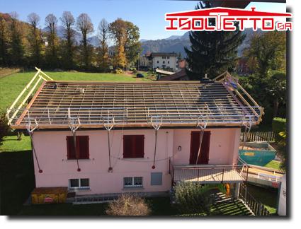 Ristrutturazione edilizia del tetto