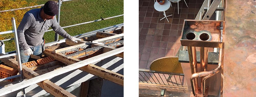 lavori complementari di lattoneria e muratura